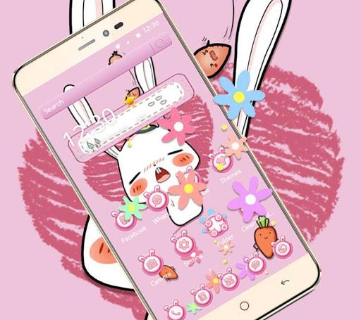 Pink Cute Cartoon Rabbit Theme ss3