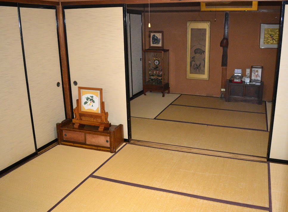 Tatami rooms at Sumiyoshi Ryokan