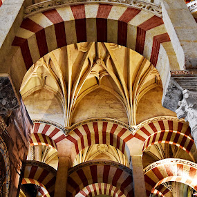 Arches in Cordoba by Nelida Dot - Buildings & Architecture Architectural Detail ( spain, historic, columns, details, architecture, arches, religion,  )