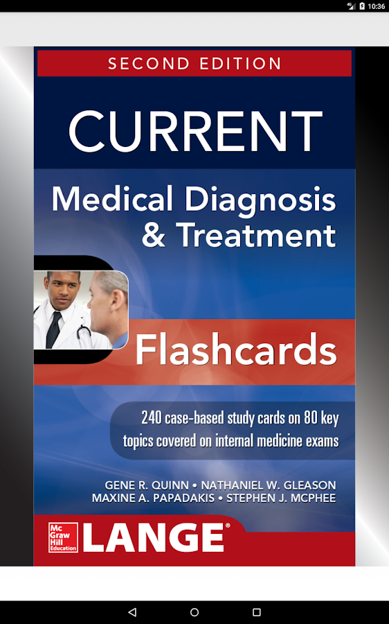 CURRENT Med Diag and Treatment CMDT Flashcards, 2E- screenshot