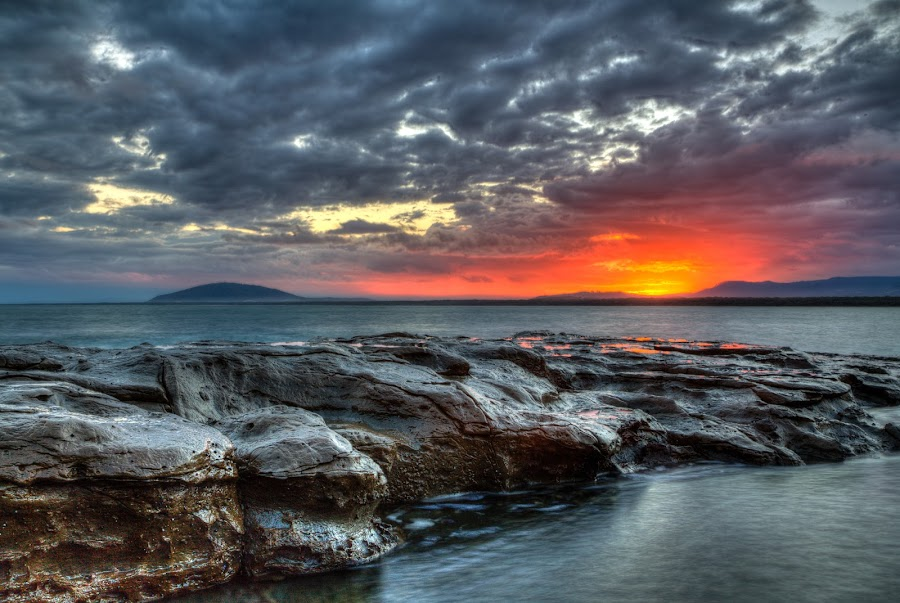The Eye of Sauron and Mordor - Sunset at Gerroa by Ian Mills - Landscapes Sunsets & Sunrises ( hdr, sunsets, gerroa )