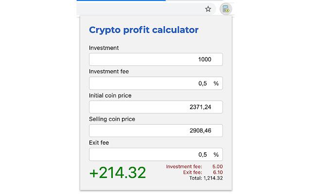 calcolatrice profit crypto