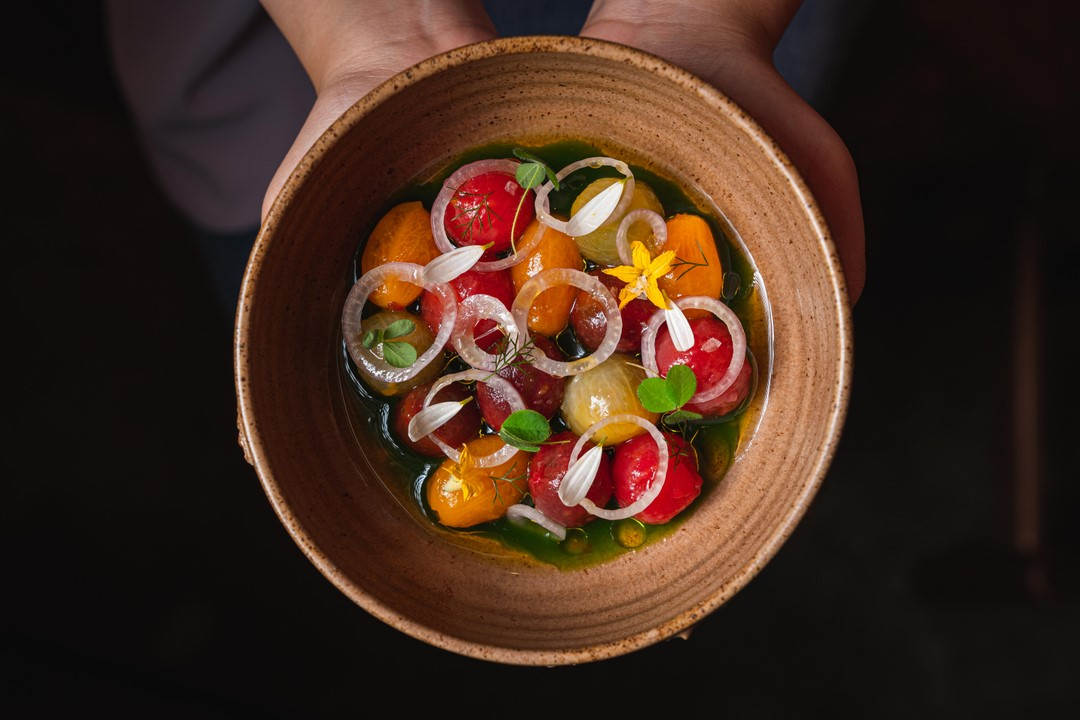 A tomato tapas dish from 22 Ships