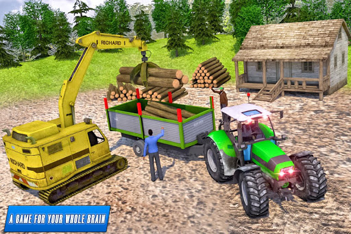 Drive Tractor trolley Offroad Cargo- Free 3D Games android2mod screenshots 9