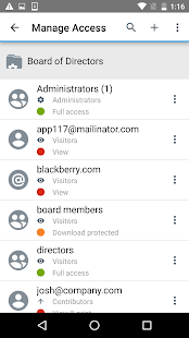 BlackBerry Workspaces- screenshot thumbnail