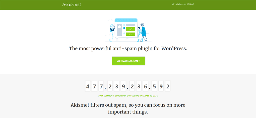 plugin antispam akismet para wordpress