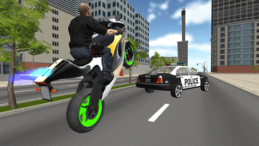 Bike Driving Simulator: Police Chase & Escape Game screenshots 2