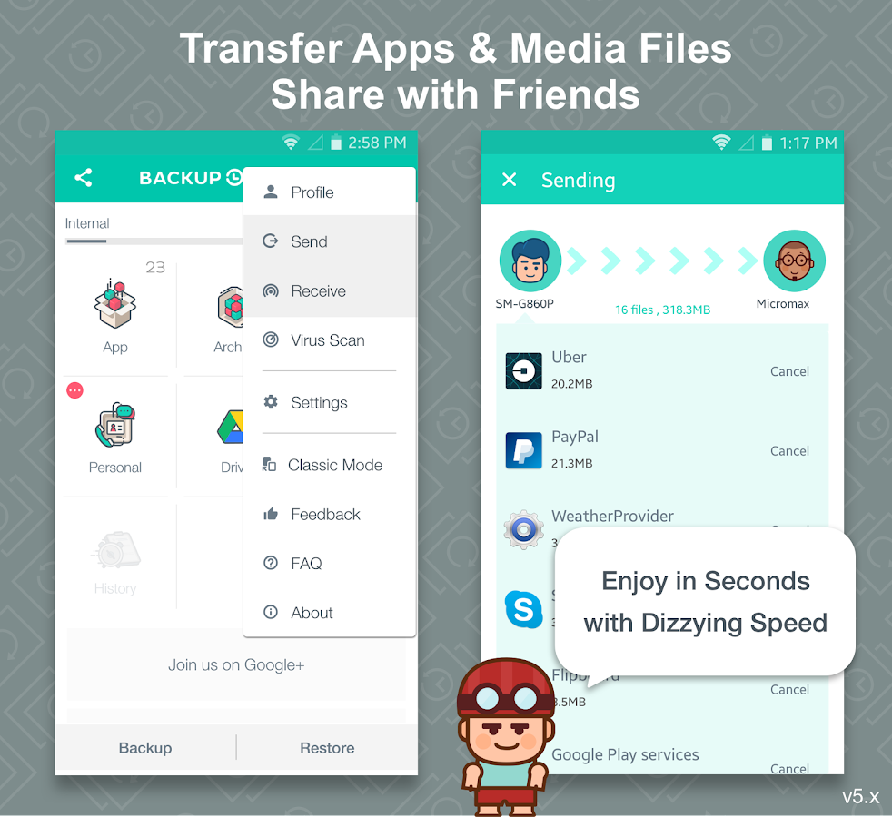 Screenshots of App Backup Restore - Transfer for iPhone