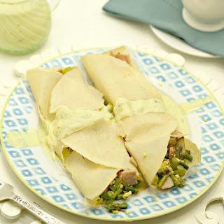 Ham, Asparagus & Egg Crepes Benedict