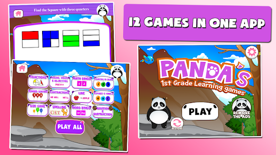 Panda 1st Grade Learning Games Screenshot
