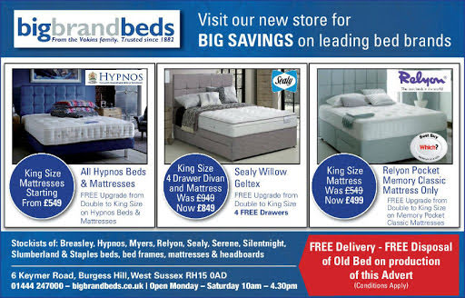 Half Page advert in the Mid Sussex Times and Mid Sussex Gazette