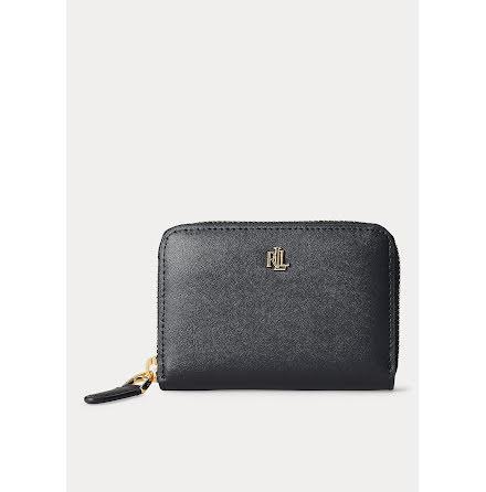 Dryden: Small Zip Wallet, black/crimson