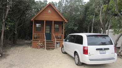 Photo: One of our two cabins for the evening.
