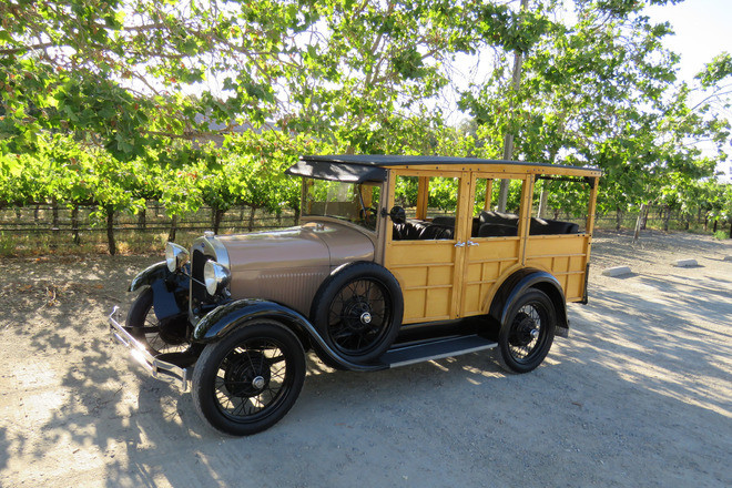 1929 Ford Model A Station Wagon - The Original Woodie Wagon Hire CA