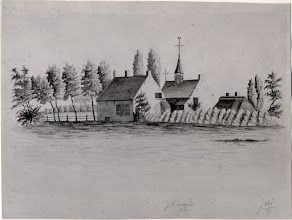 Photo: 1826 St. Gertrudiskapel en achterzijde naastgelegen schoolmeesterswoning