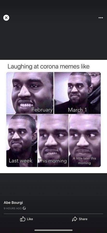 kanye west corona meme - changing expression