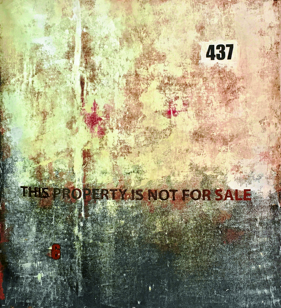 Onyis Martin's 437 (Not For Sale), acrylic and stencil on canvas, produced in 2016.