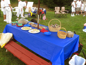 Photo: Offerings at the snack table