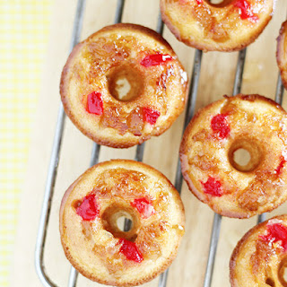 Mini Pineapple Upside Down Cake Doughnuts