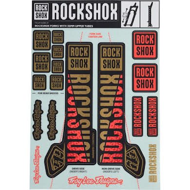 RockShox Decal Kit, 35mm, Troy Lee Designs