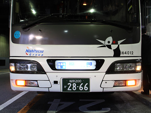 西鉄高速バス「桜島号」 4012 正面