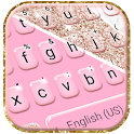 Girly Pink Glitter Keyboard Theme icon