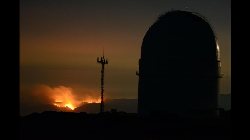 Imagen del incendio desde el Calar Alto.