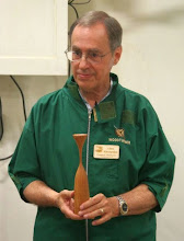 Photo: Tonight, Allen will show us how to make a complex hyperboloid candle holder as a variation on the classic forms popularized by Rude Osolnik.