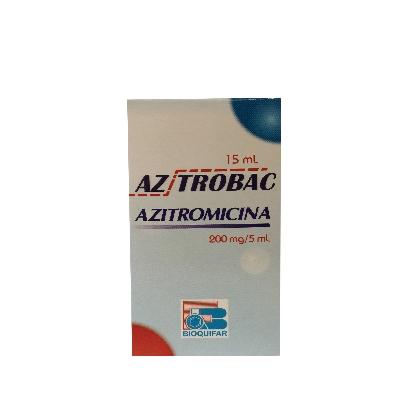 azitromicina az trobac 200mg/5ml 15ml suspensión bioquifar