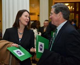 Photo: BBA Council member Christine Netski (Sugarman Rogers Barshak & Cohen) with BBA Past President J.D. Smeallie (Holland & Knight).