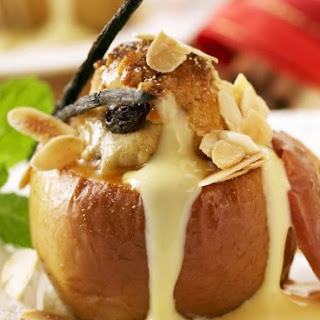 Baked Apples with Creme Anglais