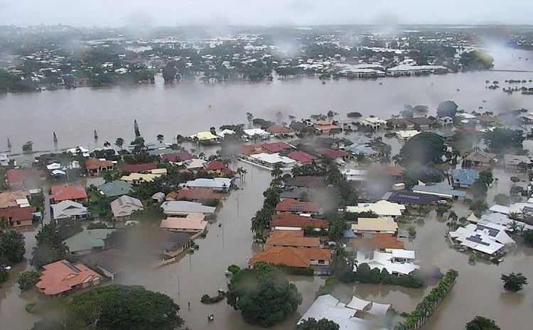 Queensland Fire and Emergency Services photo taken on February 4 2019 shows flooding in Townsville, Australia. Picture: AFP