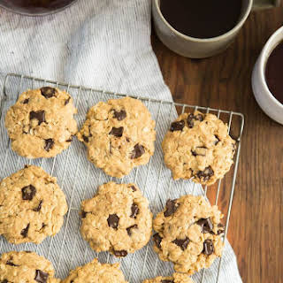 Peanut Butter Oatmeal Cookies with Chocolate Chips.