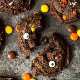 Double Double Chocolate Peanut Butter Cookies.
