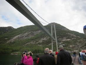 Photo: Under the bridge we go