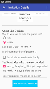 Send Invitation Card with RSVP- screenshot thumbnail