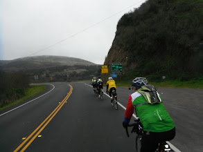 Photo: The coast was not clear...entering Hwy 1 south of Jenner from River Road (Hwy 116), Richard on the right.