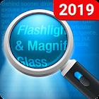 Lupa y linterna - Magnifier icon