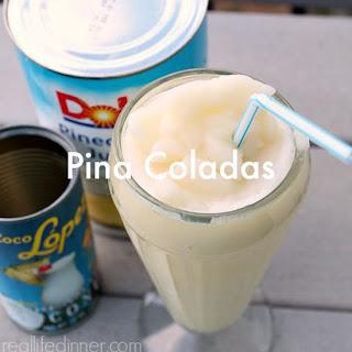 Pina Coladas {non-alcoholic}.