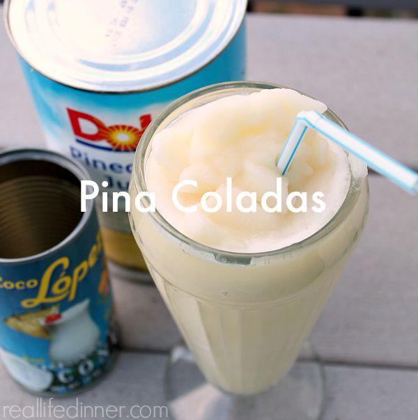 Pina Coladas {Non-Alcoholic} Recipe
