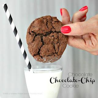 Chocolate Chocolate-Chip Cookies.