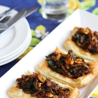 Caramelized Onion, Pancetta & Chard Tart