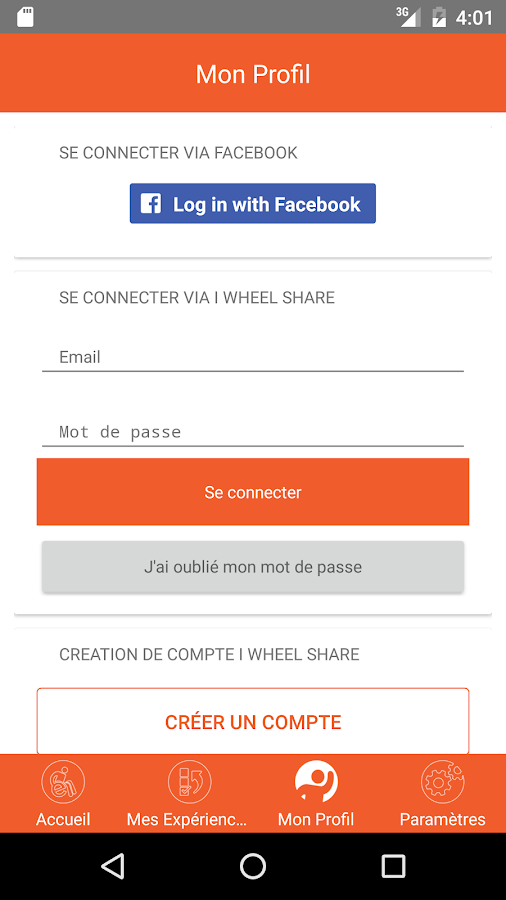I Wheel Share – Capture d'écran