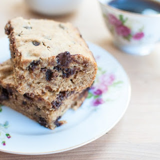 Whole Wheat, Peanut Butter, Banana, and Chocolate Chip Breakfast Squares