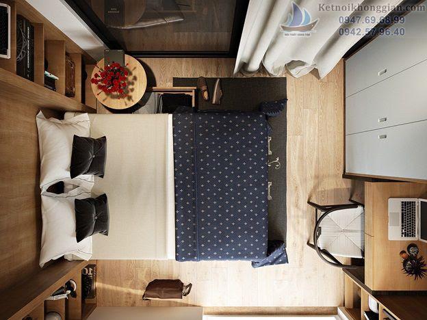 thiết kế phòng ngủ tiết kiệm diện tích