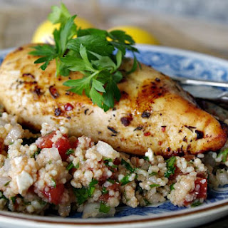 Citrus Chicken with Tabbouleh Couscous