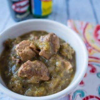 Pressure Cooker Chili Verde (Green Pork Chili).