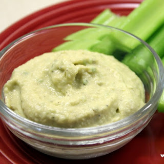 Celery with White Bean Humus