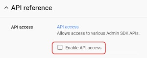 API Reference setting turned off