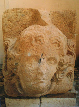 Photo: Fig. 9. Medusa, protome, peperino. Civita Castellana, Forte Sangallo.